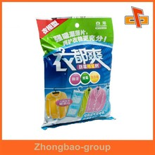 Guangzhou manufacturer custom printed plastic back sealed washing powder packaging bag