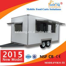 2015 best quality mobile food van for sale