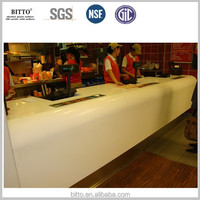 solid surface fast food restaurant countertop round table top