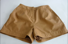 2015 new style sheep leather short pants in YKK zipper in front