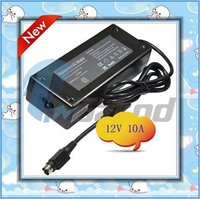 High efficiency 12v 10a power adapter for LCD with 4 pin tip