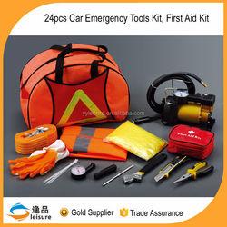 Gold Supplier 24pcs 2015 Portable Car Emergency Tool Kit