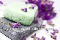 konjac bamboo charcoal sponge for kids bath