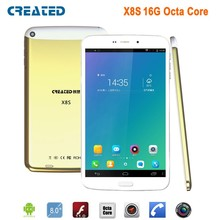 CREATED X8s tablet 8 inch Octa Core 1.7GHz Android tablet 3g wifi tablet gps phablet dual sim IPS screen