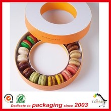 Recyclable cardboard design Dry Round macaron packaging paper box tubes food grade container
