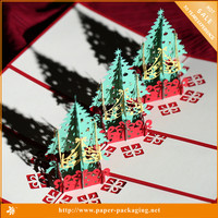Best Selling Hot Toys Christmas 2016, Christmas Tree Decoration, 3d Pop up Card