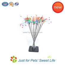 Wholesale free samples cat teaser plastic stick toy unique cat toys pet product