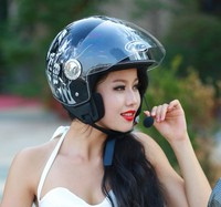 ECE scooter motorcycle helmet half face helmet with bluetooth