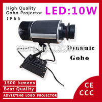 LED Outdoor 10W LED Rotating Logo or Rotating Gobo Projector Waterproof IP65 stage lighting