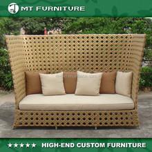hotel outdoor furniture, waterproof rattan wicker day bed