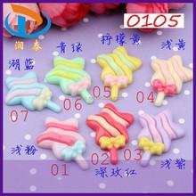 Wholesale 29*20mm Assorted Color Star Lollipop Resin Cabochons Flatback Crafts for Phone Decoration