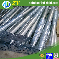 Hot dipped galvanized ground spike earth screw,earth screw anchors for sale