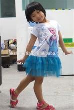 china proveedor 2014 congelados nuevo anna elsa traje de niñas niños princesa vestido de fantasía traje de elsa