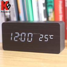 Multifunctional wooden clcok LED screen clock fancy for teacher's day gift