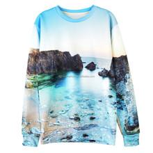 3D Printing sweatshirt custom sweatshirt dye sublimation sweatshirt Landscape printing