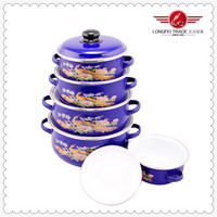 Colorful Enameled Kitchenware Clay Pot Cook