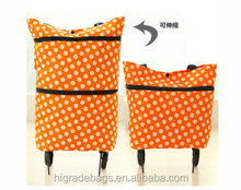 foldable shopping trolley bag with wheels