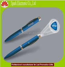 LEd flashing ballpoint pen promotion projector logo pen