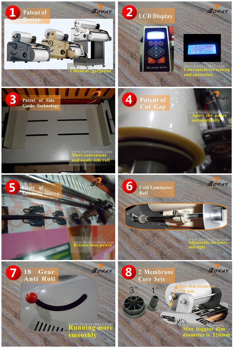 Boway 18 Year CE ISO F350 series hot roll laminator