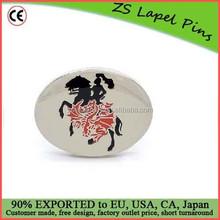 Personalized free artwork custom made Enamel & Epoxy Coating cufflinks