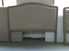 Antique Linen Fabric Wood Frame Headboard
