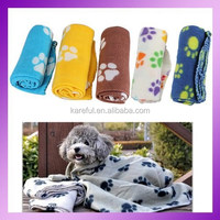 Pet Dog Cat Blanket Mat Bed with Paw Prints