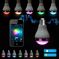 2015 wireless smart led light bulb bluetooth speaker with Timer APP control CE,RoHs