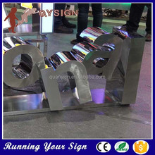 2015 Different Styles Custom Letter 3d Stainless Steel