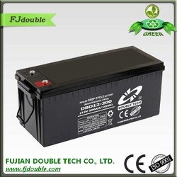 sealed rechargeable lead acid battery 12v 200ah made in china