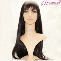Homeage African American headband wigs Indian free tangle hair sex full lace wig for man women