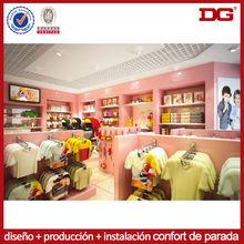 ropa de los niños de madera del centro comercial de diseño de moda dulce tienda de decoración