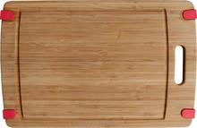 Nonslip bamboo chopping board with groove bamboo cutting board