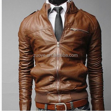 New Stylish Outer Wear Cheap Popular biker leather jacket for men