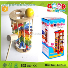Wooden Tower Marble Ball Slide Track Game Creative Baby Toys