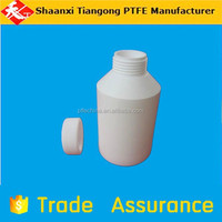 500ml pure white color ptfe polytef plastic bottles for lab use