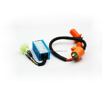 Ignition Coil + 6 Pin AC CDI Box 50 125 150CC TaoTao Go Karts Chinese Scooter GY6 125CC cdi and coil ignition