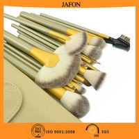 Beige 18pcs wholesale cosmetic makeup brush sets