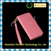 Flip wallet Luxury Premium Leather Protective Case Cover Skin Light Pink for Iphone 6