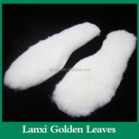 High Quanlity latex foam shoe insole 100% soft Winter Pure Sheep Lambswool Insoles For Boot Real Sheep Wool Insole