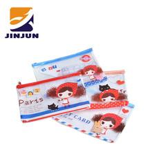 Korea stationery adorable transparent pvc file pocket mesh bag storage bag