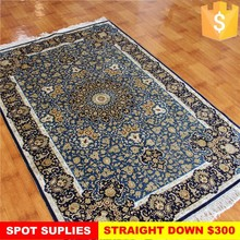 Blue color hand made china silk carpets and rugs