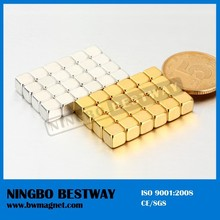 Magnet Ndfeb With Gold Coating