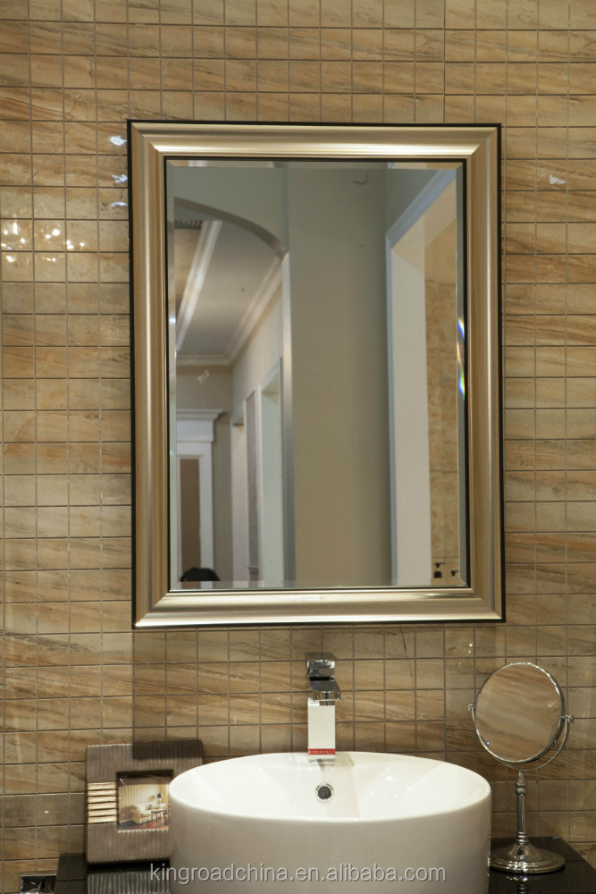 6mm Makeup Sets Decorative Bathroom Mirror With Polished C