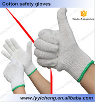 Good cheap durable cotton gloves cosntruction mining petroleum oil steel making working safety gloves
