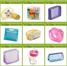 OEM/ODM companies manufacture pvc transparent plastic zipper bag, clear cosmetic pvc bag
