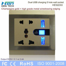 China socket electric multi plug socket with 2 USB ports for iphone ipad samsung all mobile phone charging without chargers