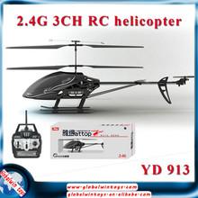 2015 2.4G nuevo 3 canales rc negro sobre los precios de porcelana helicóptero utilizar en venta gw-tyd-613