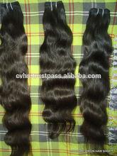 La cutícula completo de venta caliente!!! La extensión del pelo de la trama 7a virgen india cabello tejido venta alen de pelo