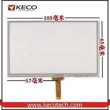 """4.3"""" inch general 4 wire resistive 105*65mm touch panel glass digitizer screen"""