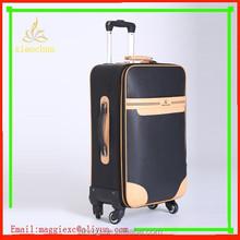 4 wheels pu luggage/best brand pu luggage/pu travel trolley luggage bag